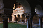 Cloister of the church of Saint-Lizier, Pays Couserans, Ariege, Pyrenees, France.