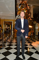 CHRISTOPHER BAILEY at a party to celebrate theunveiling of the Claridge's Christmas Tree designed by Christopher Bailey for Burberryheld at Claridge's, Brook Street, London on 18th November 2015.