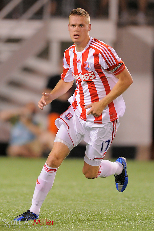 Stoke City Potters defender Ryan Shawcross (17) during the Potters game against the Orlando City Lions at the Florida Citrus Bowl on July 28, 2012 in Orlando, Florida. Stoke won 1-0...© 2012 Scott A. Miller.