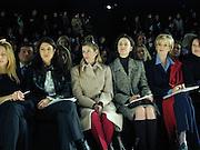 Lillian Wang von Stauffenberg, Marina Rust, ( black polo ).Oscar de la Renta. Bryant Park, New York. 8/2/2000<br />© Copyright Photograph by Dafydd Jones 66 Stockwell Park Rd. London SW9 0DA Tel 0171 733 0108 www.dafjones.com