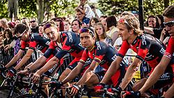 Cooling down of BMC Racing Team, Tour de France, Stage 1: Leeds > Harrogate, UCI WorldTour, 2.UWT, Harrogate, United Kingdom, 5th July 2014, Photo by Pim Nijland / PelotonPhotos.com