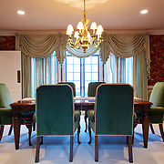 CHERRY HILL, NJ - DECEMBER 23, 2016: The first floor dining room faces the front yard with a door to the butler's pantry. 9 Gwen Court, Cherry Hill, NJ. Credit: Albert Yee for the New York Times