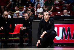 April 29, 2018 - Milan, Milan, Italy - Simone Pianigiani (EA7 Emporio Armani Milano) during a basketball game of Poste Mobile Lega Basket A between  EA7 Emporio Armani Milano vs VL Pesaro at Mediolanum Forum, in Milan, Italy, on April 29, 2018. (Credit Image: © Roberto Finizio/NurPhoto via ZUMA Press)