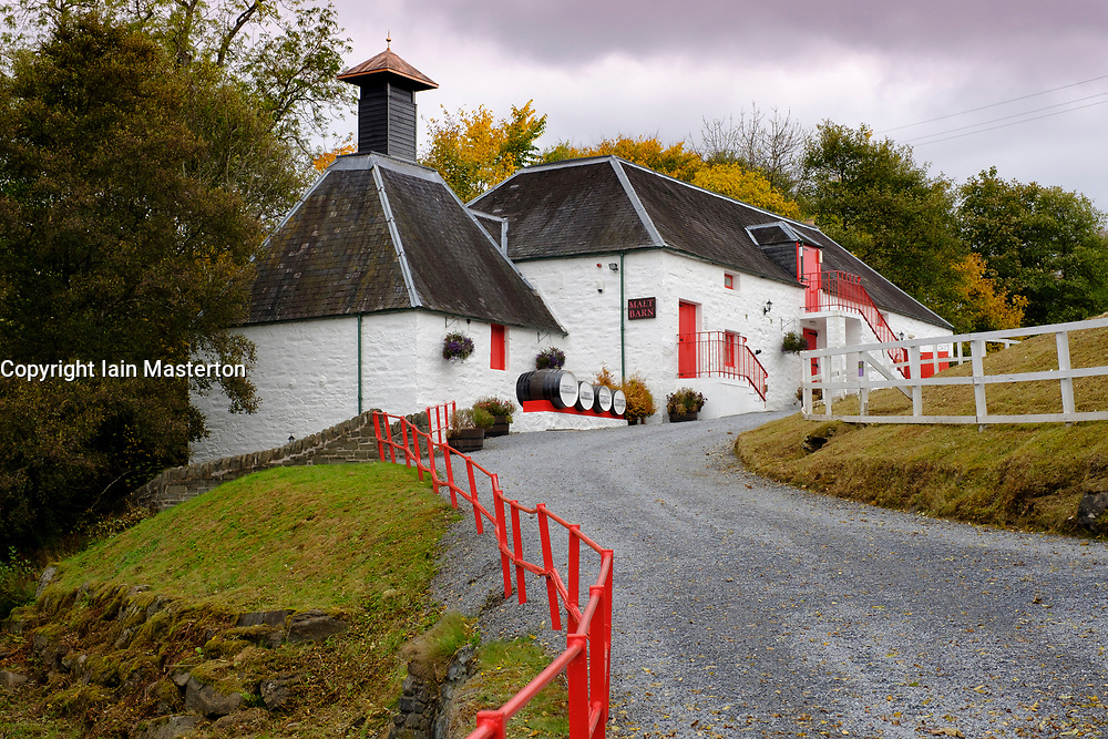 Edradour Distillery in Pitlochry, Scotland, United Kingdom