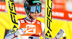 29.01.2017, Casino Arena, Seefeld, AUT, FIS Weltcup Nordische Kombination, Seefeld Triple, Skisprung, im Bild Akito Watabe (JPN) // Akito Watabe of Japan reacts after his Competition Jump of Skijumping of the FIS Nordic Combined World Cup Seefeld Triple at the Casino Arena in Seefeld, Austria on 2017/01/29. EXPA Pictures © 2017, PhotoCredit: EXPA/ JFK