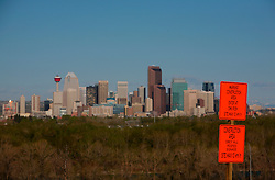 CANADA ALBERTA CALGARY 9MAY07 - Skyline of Calgary, a boomtown due to the drastic expansion of energy production largely driven by aggressive exploitation of oil sands reserves in northern Alberta...jre/Photo by Jiri Rezac / WWF-UK..© Jiri Rezac 2007..Contact: +44 (0) 7050 110 417.Mobile: +44 (0) 7801 337 683.Office: +44 (0) 20 8968 9635..Email: jiri@jirirezac.com.Web: www.jirirezac.com..© All images Jiri Rezac 2007 - All rights reserved.