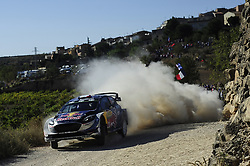 October 6, 2017 - Salou, Catalonia, Spain - The french driver, Sbastien Ogier and his co-driver Julien Ingrassia of M-Sport team driving his Ford Fiesta WRC during the first day of Rally Racc Catalunya Costa Daurada, on October 6, 2017 in Salou, Spain. (Credit Image: © Joan Cros/NurPhoto via ZUMA Press)