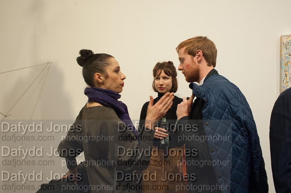 STELLA IONNOU; ANN SHUPTRINE; DAMIAN CHANDLER,  José Parlá: Broken Languages - private view, Haunch of Venison, 6 Haunch of Venison Yard. 7 February 2013