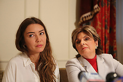 New alleged victim of Harvey Weinstein, Mimi Haleyi and Attorney Gloria Allred speak during a press conference at The Lotte New York Palace on October 24, 2017 in New York City, NY, USA. Photo by Jefferson Siegel/New York Daily News/TNS/ABACAPRESS.COM