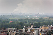 Mittal Steel Works, Ostrava seen above Ostrava City