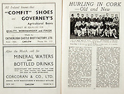 All Ireland Senior Hurling Championship Final,.Brochures,.01.09.1946, 09.01.1946, 1st September 1946, .Cork 7-5, Kilkenny 3-8, .Minor Dublin v Tipperary.Senior Cork v Kilkenny.Croke Park, ..Advertisements, Comfit Shoes Catherlogh Castle Boot Factory Ltd, Mineral Waters and Bottled Drinks Corcoran & Co Ltd, ..Articles, Hurling in Cork -Old and New,