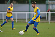 Hollands and Blair midfielder Brett Ince controls the ball during the Southern Counties East match between AFC Croydon Athletic and Hollands & Blair at the Mayfield Stadium, Croydon, United Kingdom on 10 October 2015. Photo by Mark Davies.
