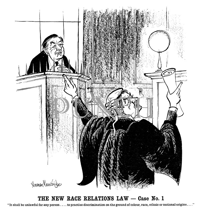 "The New Race Relations Law—Case No 1. ""It shall be unlawful for any person....to practise discrimination on the ground of colour, race, ethnic or national origins...."""