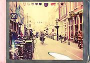 Fietsers in de Twijnstraat in Utrecht