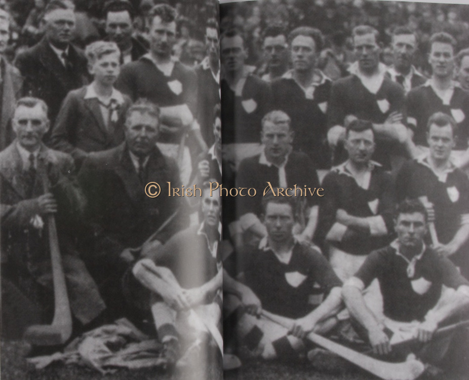 Limerick-All-Ireland Hurling Champions 1934. Back Row: Dave Conway, Jack Keane, Paddy Mackey, Pat O'Reilly, Mick Ryan, Jim Roche, Jackie O'Connell, Paddy Scanlon, Anthony Mackey, Garreth Howard, Timmy Ryan (capt), Pat Ryan, Tommy McCarthy, Willie Hannon, Ned Cregan, Christy O'Brien, Mick Mackey, Paddy Clohessy, W P Clifford. Middle Row: Mick Neville, Denny Lanigan, Mickey Cross, John Mackey, Bob McConkey, Mick Kennedy, Jimmy Close, Dave Clohessy, Liam Scanlon. Fron Row: Mick Hickey, Mickey Condon, Dan Flanagan, Peter Brown (trainer).