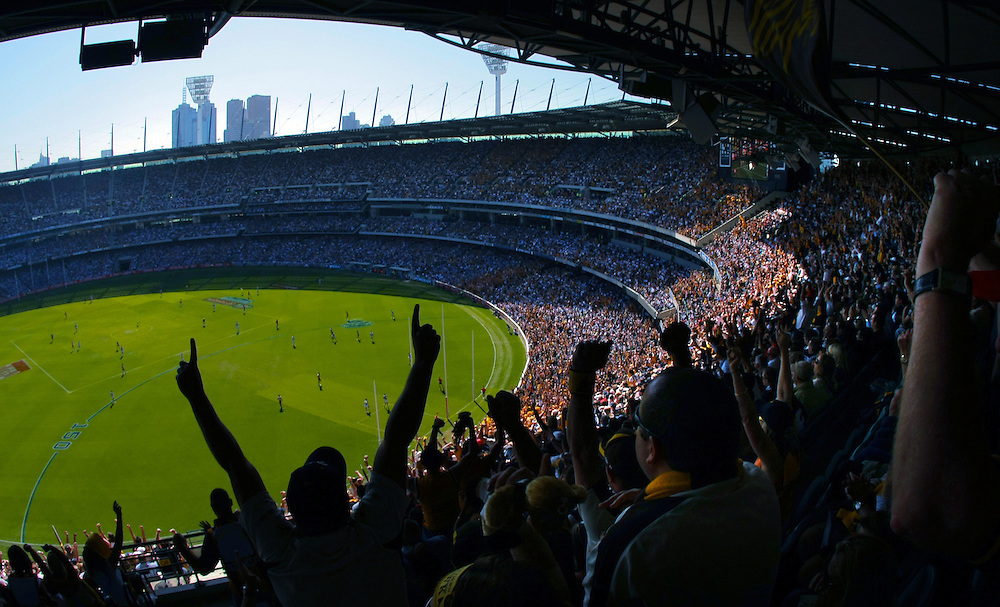 AFL Grand Final 2008. Geelong v Hawthorn at the MCG.  Pic By Craig Sillitoe  27/09/2008 melbourne photographers, commercial photographers, industrial photographers, corporate photographer, architectural photographers, This photograph can be used for non commercial uses with attribution. Credit: Craig Sillitoe Photography / http://www.csillitoe.com<br />