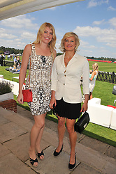 Left to right, MEREDITH OSTROM and ALISON JACKSON at the Audi International Polo Day held at Guards Polo Club, Smith's Lawn, Windsor on 22nd July 2012.