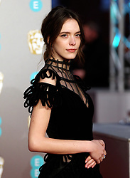 Stacy Martin attending the 72nd British Academy Film Awards held at the Royal Albert Hall, Kensington Gore, Kensington, London.