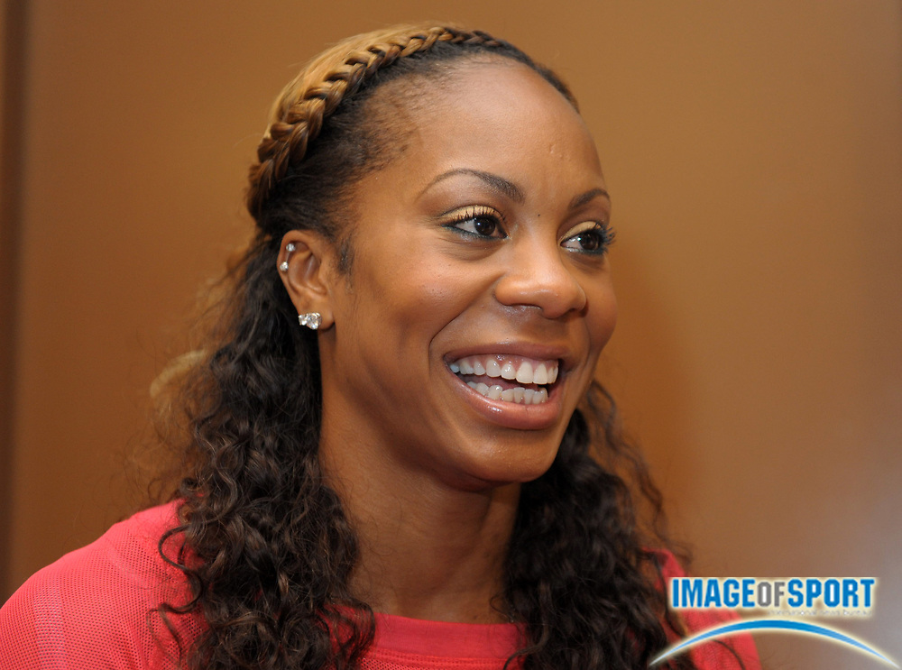 Jun 1, 2012; Eugene, OR, USA; Sanya Richards in the 2012 Prefontaine Classic at Hayward Field.