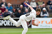 Tom Abell of Somerset bowling during the opening day of the Specsavers County Champ Div 1 match between Somerset County Cricket Club and Hampshire County Cricket Club at the Cooper Associates County Ground, Taunton, United Kingdom on 11 May 2018. Picture by Graham Hunt.