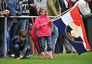 15-07-2008 VOETBAL:CSKA SOFIA - WILLEM II:TILBURG<br /> Jonge Willem II fans met vlag<br /> Foto: Geert van Erven