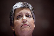 Jan. 12, 2009 -- PHOENIX, AZ: Arizona Governor JANET NAPOLITANO delivers her State of the State speech in the Arizona House of Representatives chambers Monday. It is her last State of the State speech. She has been nominated by Persident Elect Barack Obama to be the Secretary of Homeland Security, she delivered her last State of the State Monday. She leaves for Washington DC Tuesday, Jan 13 and is expected to be confirmed by the US Senate Jan 20. She will resign as Governor after she is approved by the Senate. Photo By Jack Kurtz / ZUMA Press