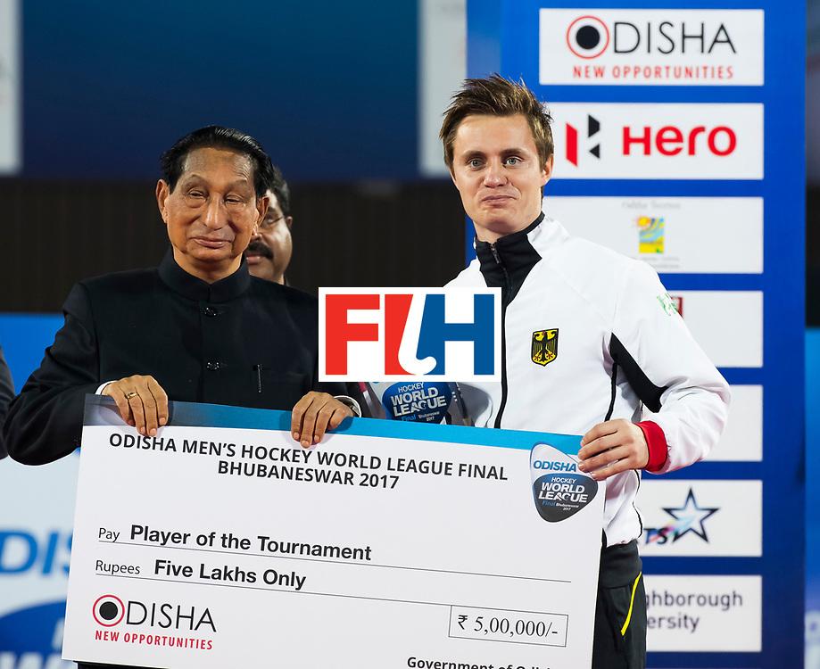 BHUBANESWAR - Mats Grambusch (Ger).  Hockey World League finals , Final Australia-Argentina (2-1) . Australia wint de finale. COPYRIGHT KOEN SUYK