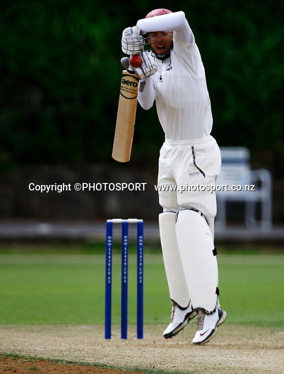 Northern's Peter McGlashan, State Champs cricket, Auckland Aces v Northern Knights, Day 1, Eden Park, Auckland. Friday 20 March 2009. Photo: William Booth/PHOTOSPORT