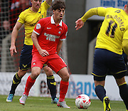 Leyton Orient midfielder Scott Kashket looks to win possession during the Sky Bet League 2 match between Leyton Orient and Oxford United at the Matchroom Stadium, London, England on 17 October 2015. Photo by Bennett Dean.