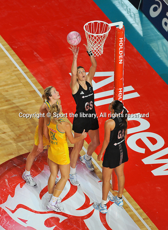 Irene Van Dyk (NZ)<br /> 2011 Holden Netball Test Series<br /> Australia vs New Zealand <br />  Sunday 30 October 2011<br /> Hisense Arena/ Melbourne Australia <br /> &copy; Sport the library / Jeff Crow