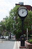 "The Saratoga Clock, at ""The Sarratoga"" apartment building, 330 East 75th street. the clock was dedicated on January 10, 1985 by Mayor Ellsworth Jones, Saratoga Springs"