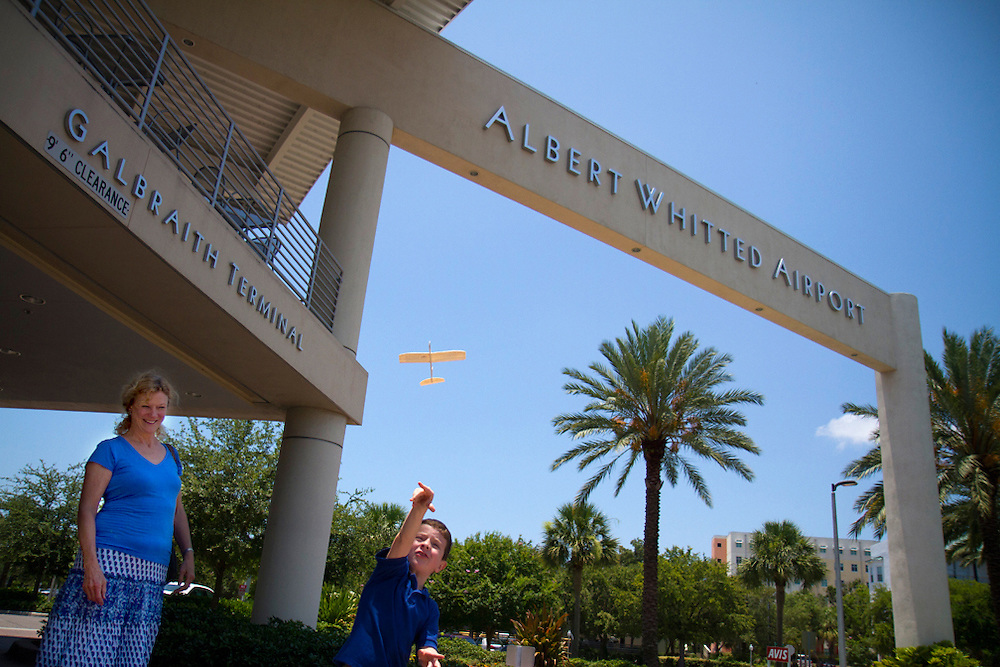 Henry Bullard, 6 flys the airplane he was given at The Hangar which also has the kids menu printed on it. Watching planes fly in and out, with the opportunity of your own airborne adventure taking a helicopter ride from Safari Choppers, makes The Hangar Restaurant and Flight Lounge at The Albert Whitted Airport in downtown St. Petersburg one of the most unique dining experiences on the Gulf Coast.