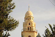 Israel, Jerusalem, Old City, The bell tower of the Church of the Dormition