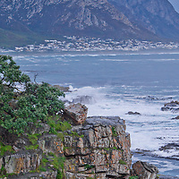Alberto Carrera, Rocky Coast and waves,Hermanus, Western Cape, Atlantic Ocean, South Africa, Africa