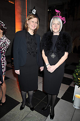 Left to right, SARAH BROWN wife of the Prime Minister and HILARY RIVA at Hats - an antology of Stephen Jones held at the V&A, London on 23rd February 2009.