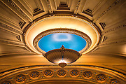 NEW ORLEANS, LA - AUGUST 27:  Detail of the historic Orpheum Theater on August 27, 2015 in New Orleans, Louisiana. The nearly century-old Beaux Arts theater, severely damaged by Hurricane Katrina flood waters ten years ago, reopens after a $13 million renovation.  (Photo by Erika Goldring/Getty Images)