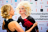16-6-2018 AMSTERDAM - Princess Mabel gets the AmsterdamDiner Award  arrives at AFAS Live for Amsterdam Dinner. Dinner is all about a world without AIDS. ROBIN UTRECHT<br /> <br /> 16-6-2018 AMSTERDAM - Prinses Mabel krijgt de AmsterdamDiner Award uitgereikt in AFAS Live. Prinses Mabel arriveert bij AFAS Live voor AmsterdamDiner. Het diner staat in het teken van een wereld zonder AIDS. ROBIN UTRECHT