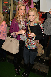 Left to right, HANNAH COMOLLI and JULIE MONTAGU (Viscountess Hinchingbrooke)  at a ladies Valentine's Breakfast to launch the new healthy food menu at royal favourite restaurant Bumpkin, 119 Sydney Street, London on 14th February 2014.