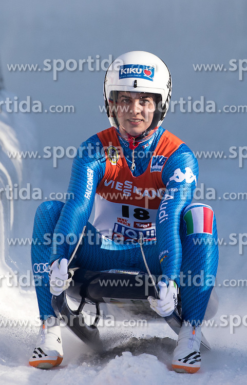 28.01.2017, Olympia Eisbahn, Igls, AUT, FIL Rennrodel WM 2017, Igls, Damen Einsitzer, 2. Lauf, im Bild Raychel Michele Germaine (USA) // Raychel Michele Germaine of the USA reacts after her 2nd run of women's single seater competition of 2017 Luge World Championship at the Olympia Eisbahn in Igls, Austria on 2017/01/28. EXPA Pictures © 2017, PhotoCredit: EXPA/ Johann Groder