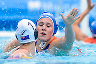 24-07-2017: Waterpolo: Nieuw Zeeland v Nederland: Boedapest<br /> <br /> (L-R) Kitty Lynn Joustra of team Netherlands during the waterpolomatch between women New Zealand and Netherlands at the 17th FINA World Championships 2017 in Budapest, Hungary<br /> <br /> Photo / Foto: Gertjan Kooij