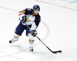 TJ Brodie of the Barrie Colts in Game 3 of the Rogers OHL Championship Series in Windsor on Sunday May 2. Photo by Aaron Bell/OHL Images