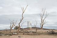 USA, California, Mojave desert,Newberry Springs, Lake Dolores Waterpark, abandoned park