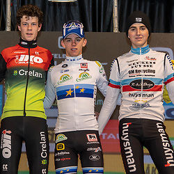 2019-12-29: Cycling: Superprestige: Diegem: Thibau Nay gaining his fourth win, Lennart Bellmans finishes second ahead of Emiel Verstrynge