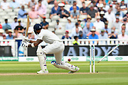 Wicket - KL Rahul of Indiais bowled by Sam Curren of England during second day of the Specsavers International Test Match 2018 match between England and India at Edgbaston, Birmingham, United Kingdom on 2 August 2018. Picture by Graham Hunt.