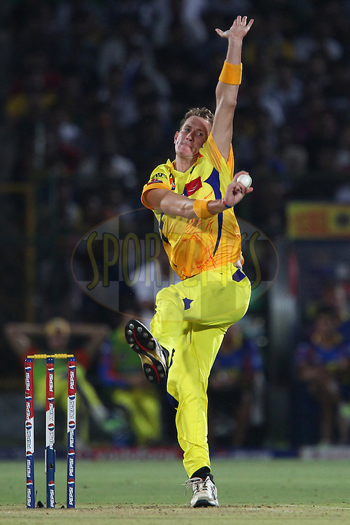Chris Morris during match 61 of the Pepsi Indian Premier League ( IPL) 2013  between The Rajasthan Royals and the Chennai SUperkings held at the Sawai Mansingh Stadium in Jaipur on the 12th May 2013..Photo by Ron Gaunt-IPL-SPORTZPICS ..Use of this image is subject to the terms and conditions as outlined by the BCCI. These terms can be found by following this link:..http://www.sportzpics.co.za/image/I0000SoRagM2cIEc
