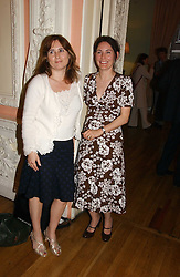Left to right, ALEXANDRA SHULMAN and the MARCHIONESS OF NORMANBY at a party to celebrate the publication of 'A Much Married Man' by Nicholas Coleridge held at the ESU, Dartmouth House,  37 Charles Street, London W1 on 4th May 2006.<br />