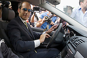 Foto di Donato Fasano Photoagency, nella foto : Giampalo Tarantini leaves the prison of Bari, house arrest in Rome, in his Audi Q7 sits behind the passenger.nella foto l'avvocato Nicola Quaranta