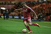 Stewart Downing (Middlesbrough) crosses the ball during the Sky Bet Championship match between Middlesbrough and Hull City at the Riverside Stadium, Middlesbrough, England on 18 March 2016. Photo by Mark P Doherty.