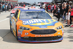 September 29, 2018 - Charlotte, NC, U.S. - CHARLOTTE, NC - SEPTEMBER 29: #17: Ricky Stenhouse Jr., Roush Fenway Racing, Ford Fusion SunnyD leaving the garages during the Monster Energy NASCAR Cup Series Playoff Race Bank of America ROVAL 400 on September 29, 2018, at Charlotte Motor Speedway in Concord, NC. (Photo by Jaylynn Nash/Icon Sportswire) (Credit Image: © Jaylynn Nash/Icon SMI via ZUMA Press)