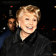 Angela Rippon Arrivers  Ray Burmiston - fundraising exhibition  at The Athenaeum Hotel, London, UK. 5th Feb 2019.